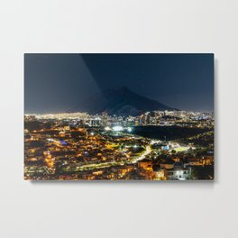Monterrey at Night - Monterrey, Mexico Metal Print