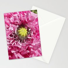 pink poppy macro XII Stationery Cards