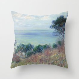 "Claude Monet ""La côte de Varengeville (The coast of Varengeville)"" Throw Pillow"