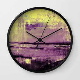 Yellow Color Patches Wall Clock