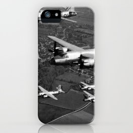 B-26B Marauder Bombers Flying In Formation - WW2 England  iPhone Case