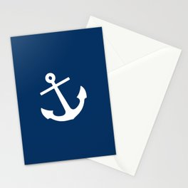 Navy Blue Anchor Stationery Cards