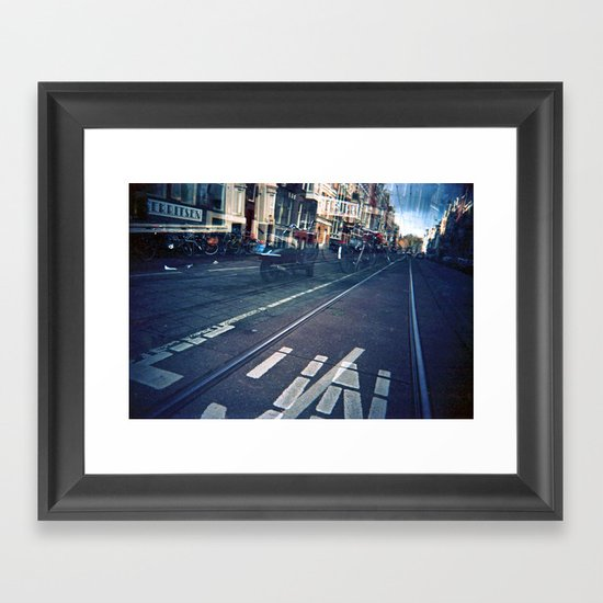 Amsterdam Double Exposure Framed Art Print