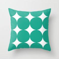 Mod Dots in Emerald Green Throw Pillow