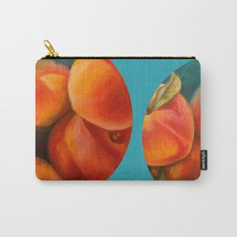 Round Peach Carry-All Pouch
