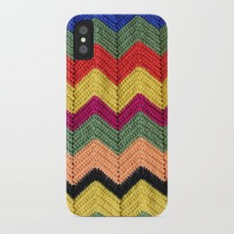 Rainbow Chevron Afghan iPhone Case