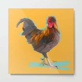 The Rooster Metal Print