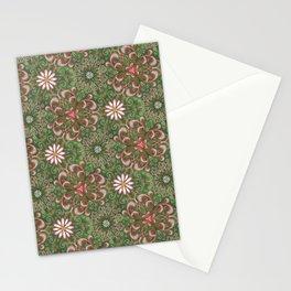 Pink Garden Swirl Pattern Stationery Cards