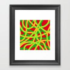 lively lines Framed Art Print