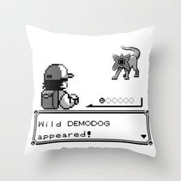 Pokémon / Stranger Thing demodog appeared Throw Pillow