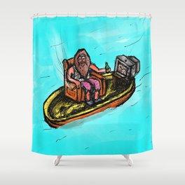 Zero Shits Given Shower Curtain
