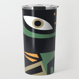 Abstract Jazz Concept, Piano Player, Music pop art Travel Mug