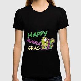 Happy Crocodile Foodie and Fat Gift T-shirt