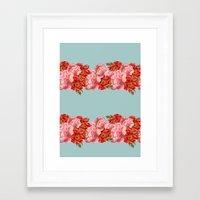 vintage floral Framed Art Prints featuring vintage floral by cardboardcities