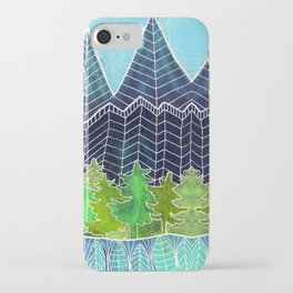 Magical Mountain Forest iPhone Case