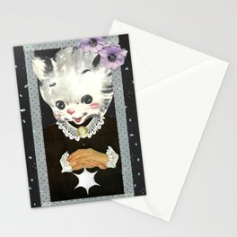 Collar and Cuffs handcut collage Stationery Cards