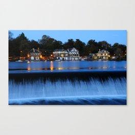 Philadelphia Boathouse Row At Twilight Canvas Print