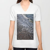marine V-neck T-shirts featuring shore marine by  Agostino Lo Coco