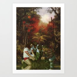 The discovery Art Print