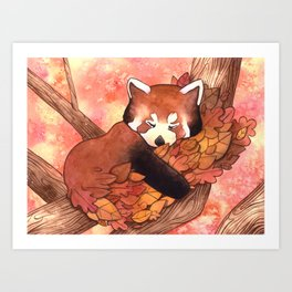 Cute Red Panda Art Print