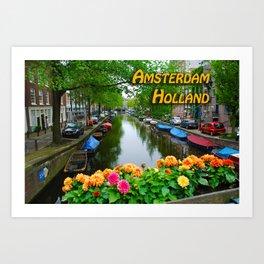 Amsterdam Holland Canal Art Print