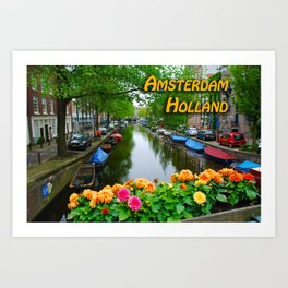Amsterdam Holland Canal Art Print