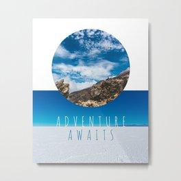 Adventure Awaits Photo Collage Metal Print