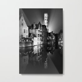 shot on film .. belfry night reflection Metal Print