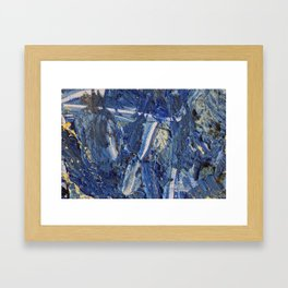 Blue painting  Framed Art Print
