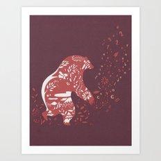 Golden Bear Art Print