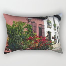 Flower Wagon at Old Antigua, Guatemala Rectangular Pillow