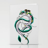 chihiro Stationery Cards featuring Haku and Chihiro by Mrs Storm