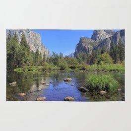 Yosemite and mirror lake Rug