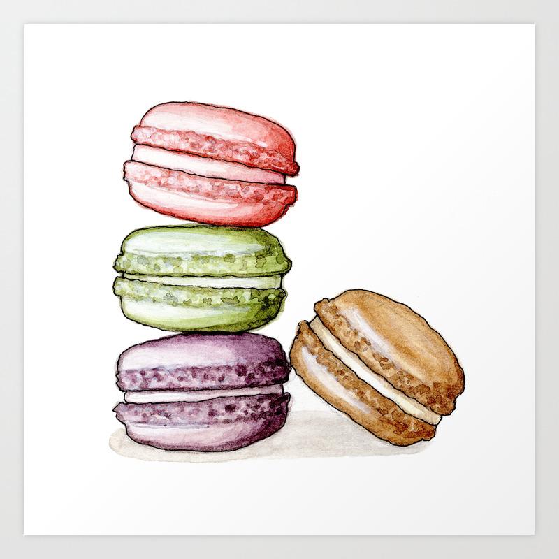 Desserts Macarons Art Print By Yeesanloh Society6