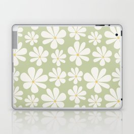 Floral Daisy Pattern - Green Laptop & iPad Skin