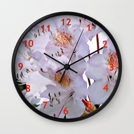 Rhododendron Flowers Wall Clock