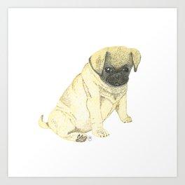 Bruni - the pug puppy Art Print