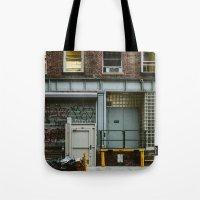 grafitti Tote Bags featuring Grafitti Streets by Jillian VanZytveld