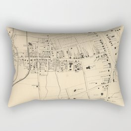 Vintage Map of White Plains NY (1867) Rectangular Pillow