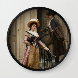 "Edmund Blair Leighton ""My Next-Door Neighbour"" Wall Clock"