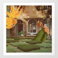 knit Art Prints featuring Knit by Ubik Designs