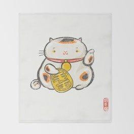 Maneki Neko [Special Lucky Toy Box] Throw Blanket