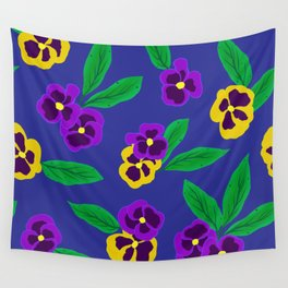Pansy Pattern Wall Tapestry