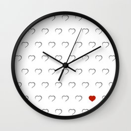 Hearts - Classic Red Wall Clock