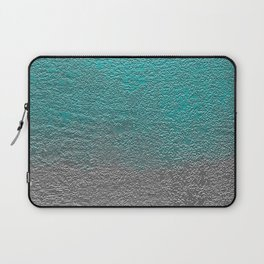 Turquoise and Silver Foil Laptop Sleeve