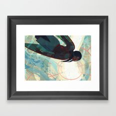 The Spire Below Framed Art Print