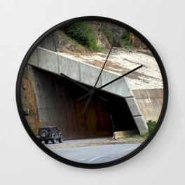 Tunnel above Red Mountain Creek Wall Clock