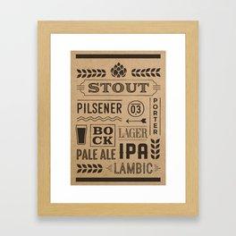 Type beer Framed Art Print