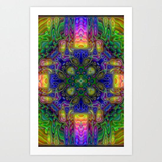Multicolored Enamel Appearance Art Print