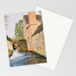 Old Mill in the Cotswolds England Stationery Cards